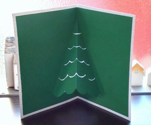 飛び出すポップアップクリスマスカード・クリスマスツリー