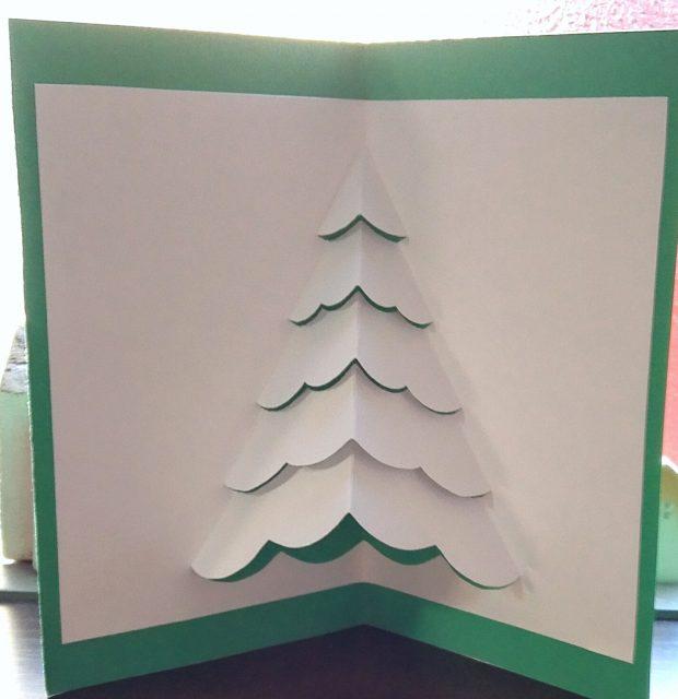 飛び出すポップアップクリスマスカード・クリスマスツリーその2