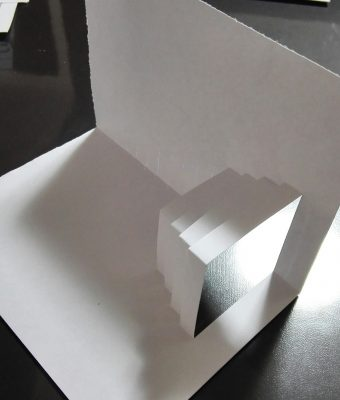 飛び出すポップアップクリスマスカード・直線クリスマスツリー作り方4