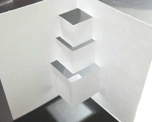 飛び出すポップアップクリスマスカード・プレゼントボックス作り方3