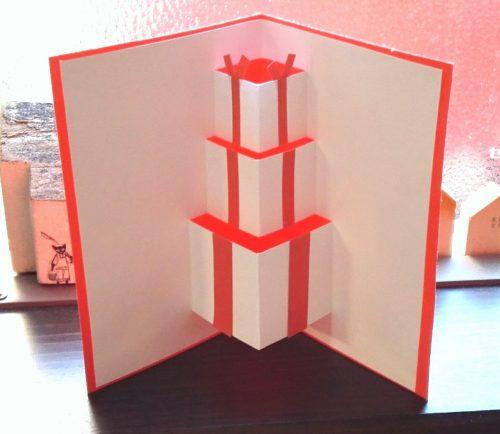 飛び出すポップアップクリスマスカード・プレゼントボックス