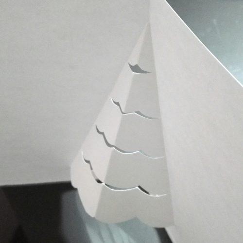 飛び出すポップアップクリスマスカード・クリスマスツリー作り方3