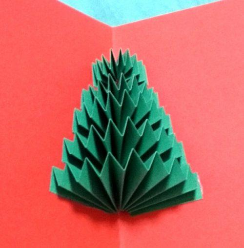 じゃばらで作る飛び出すポップアップクリスマスカード作り方3